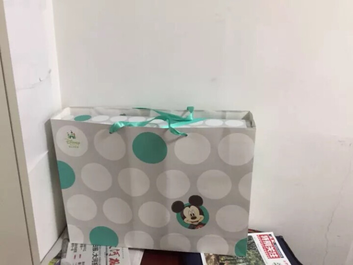 迪士尼宝宝毯子儿童毛毯盖毯云毯新生儿盖被双层加厚礼盒装浅粉17061 晒单图
