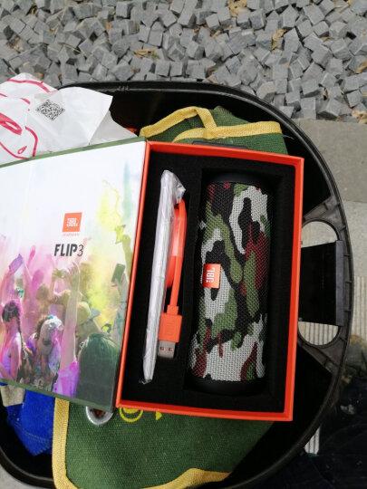 JBL Flip3 音乐万花筒3 蓝牙音箱 低音炮 防水设计 支持多台串联 户外便携音箱 迷你小音响 迷彩定制版 晒单图