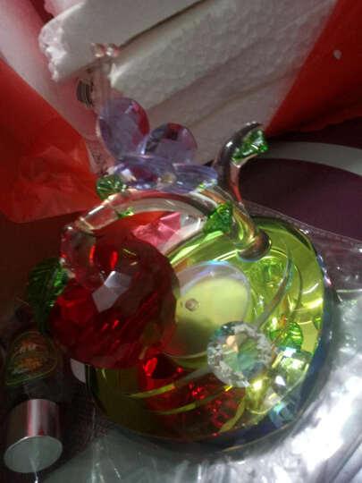 乐佳 汽车摆件汽车车载香水  水晶苹果暖男一帆风顺香水座 汽车用品 车内饰品 平安树-心形底座红果 晒单图