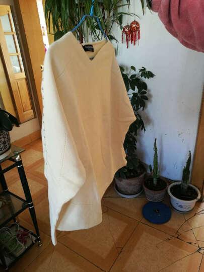 歌莲达 针织衫女短款秋装新款韩版毛衫女长袖纯色毛衣女套头 酒红 均码建议85斤--135斤 晒单图