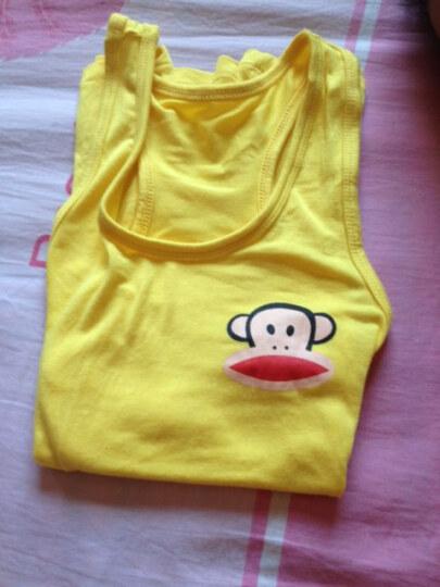 儿童糖果色 工字型背心 男童女童莫代尔背心 宝宝纯棉背心  猴子背心 黑色 140号 晒单图