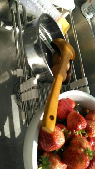 宝优妮厨房置物架水槽沥水架水龙头碗碟架洗菜沥水篮304不锈钢单层蔬菜水果篮收纳架DQ0076 晒单图
