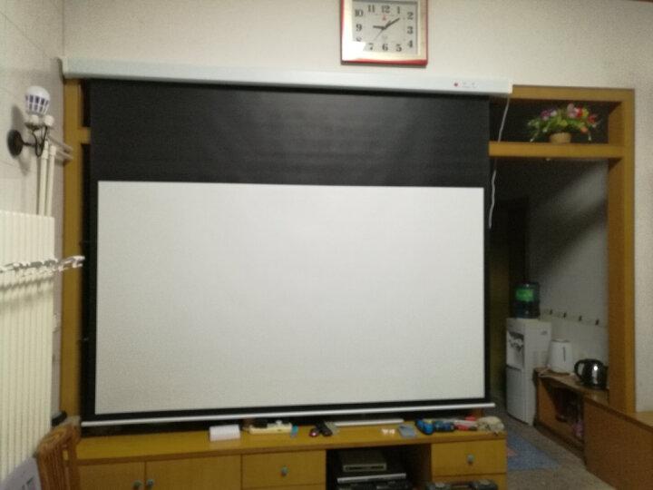 红叶(Redleaf)150英寸 电动投影幕布16:9玻珠幕 家用幕布 晒单图