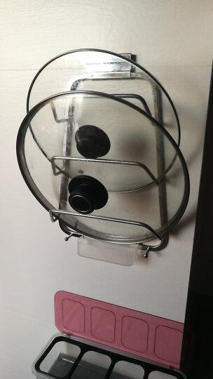 卡贝厨房锅盖架带接水盘多功能壁挂收纳架放锅盖的架子锅盖置物架 B1款 53103 不锈钢 晒单图