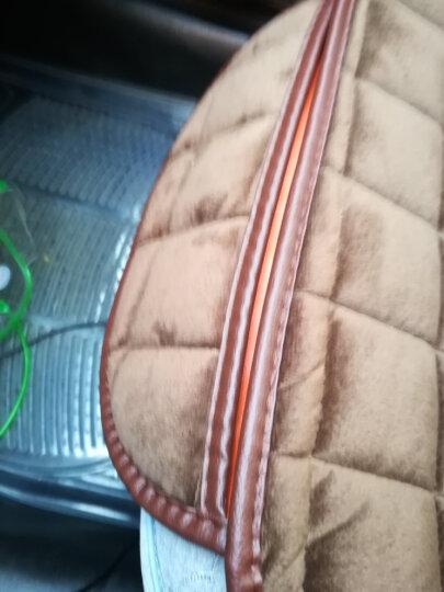 車格仕 汽车坐垫通用冬季毛绒加厚 三件套单片/后排无靠背座垫秋冬天新款防滑保暖绒座套车载小车内用品 激情红 毛绒加厚坐垫后排单片 晒单图