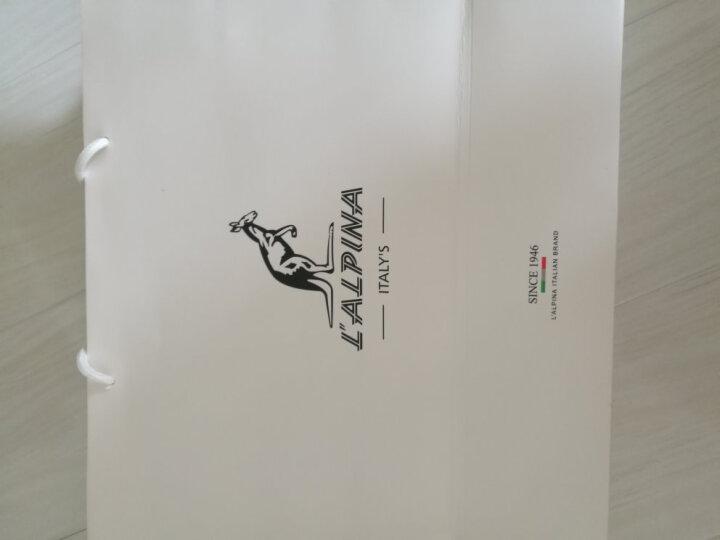 意大利袋鼠(L'ALPINA)时尚牛皮女包斜挎包简洁流苏五金挂饰包休闲手提包优雅单肩包女 子夜黑 晒单图