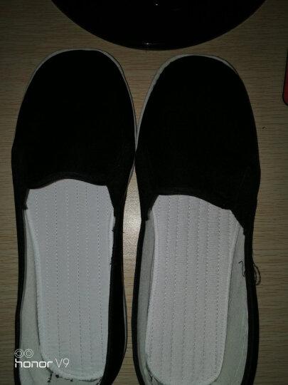 春秋新款传统手工千层底布鞋男黑色舒适布底布棉布mj 大气黑 白胶底 39 晒单图
