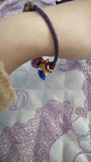【蒂蔻】520时尚足金女士黄金手链女款3D硬金首饰品送女友老婆情人节礼物足金转运珠红绳手串礼物 大嘴猴+星星 晒单图