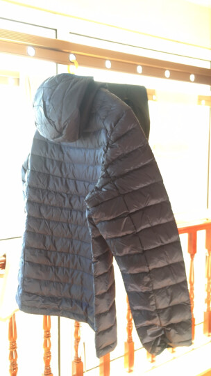 骆驼牌 户外情侣款轻盈舒适羽绒服 防风保暖男女羽绒服 黑色 男 P7W2R4743 XL 晒单图