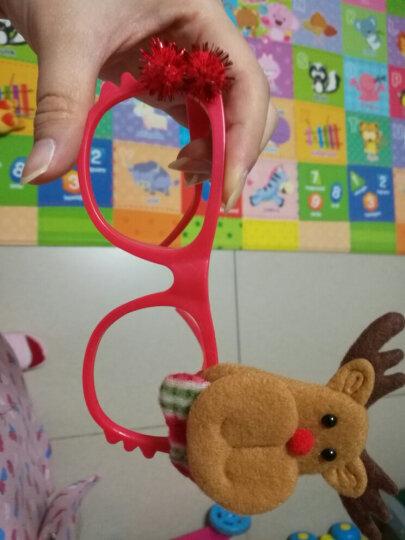 盛泉 圣诞鹿角头箍 圣诞发箍 圣诞节装饰雪人 老人头饰 头扣 多款可选 不发光 毛绒眼镜 混发 如图 晒单图