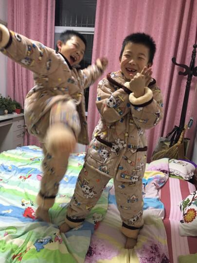仪静纤雅 儿童睡衣男冬加厚法兰绒三层夹棉卡通中大童家居服女套装 女孩 黄小鸭 14#(身高115-125cm) 晒单图