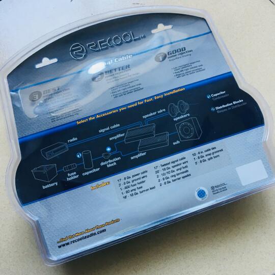 锐克(RECOIL)汽车音响改装线材纯铜套装音频信号线喇叭电源线 IE-5 多层屏蔽音频线 晒单图