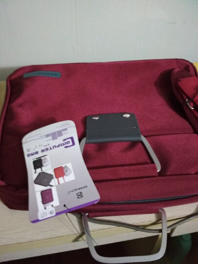 英制(BRINCH) 电脑包 14.1-14.4英寸通用款日韩风单肩/手提电脑专用包BW-127红色 晒单图