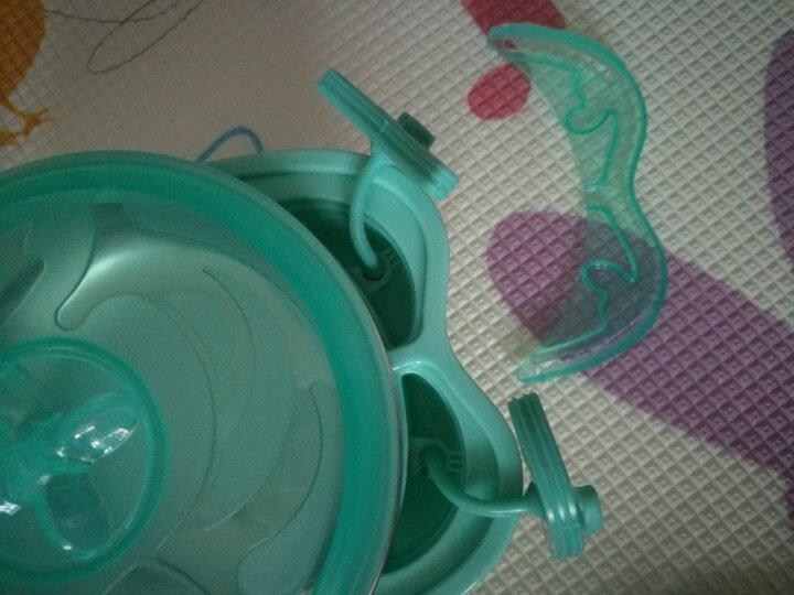 babycare儿童餐具套装保温碗婴儿碗耐热保温不锈钢吸盘碗婴儿餐具 薄荷绿3件套 晒单图