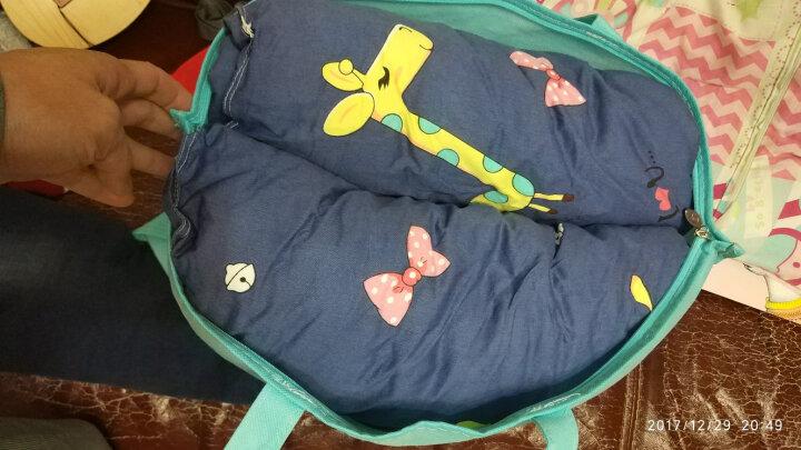 当当爱 幼儿园午睡儿童棉被带拉链可拆卸组合款被套+被子110*150cm尺寸 动物圈 被套+3斤棉花被芯 晒单图