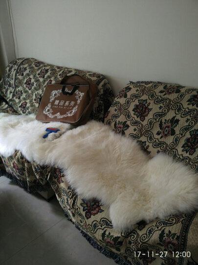 牧诺 冬季羊毛地毯 卧室地毯纯羊毛 整张羊皮羊毛沙发垫北欧地毯床边地毯 飘窗垫简约长毛毯 豆沙色 澳洲2p70*200cm 晒单图