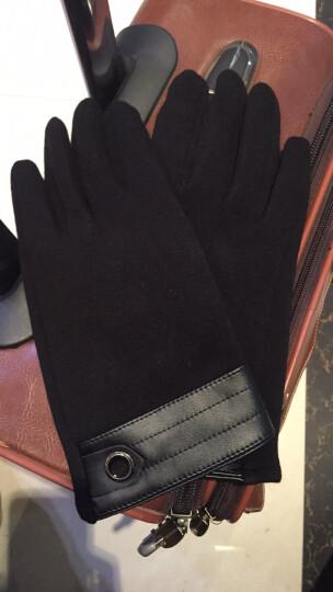 iClever 冬季保暖触屏手套户外运动开车保暖手套 男士-黑色均码 晒单图
