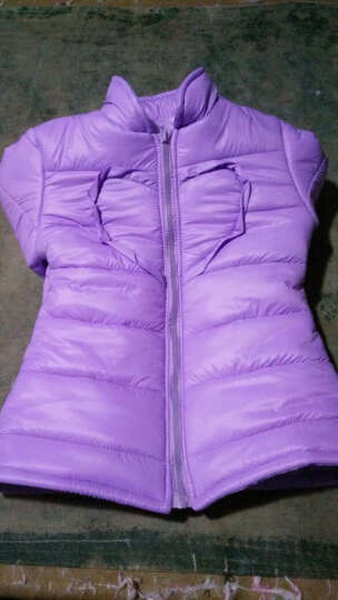 羽绒服布料面料 防绒防水无胆轻薄410T尼龙绸冬季羽绒服内胆棉服 粉紫色 晒单图