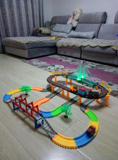 奋铭电动轨道车儿童玩具 小火车头套装赛车轨道玩具汽车儿童礼物 益智玩具3456周岁男孩女孩玩具 119件套双层轨道(6812充电版) 晒单图