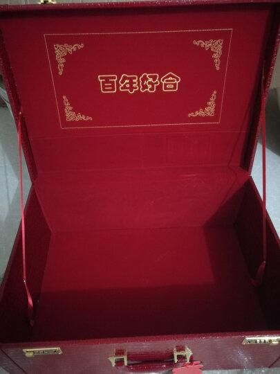阿里奴结婚箱子红色婚庆箱包木制皮箱官箱新娘复古小号密码箱手提结婚旅行箱行李箱礼金箱嫁妆箱包 24寸 晒单图