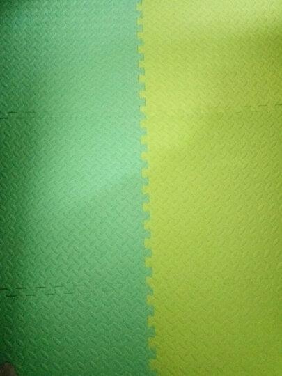绿美佳宝宝爬行垫60*60cm加厚环保健康婴儿拼接爬爬垫小孩垫子树叶纹儿童泡沫地垫 翠绿色1片(送边条) 60*60*1.2cm 晒单图