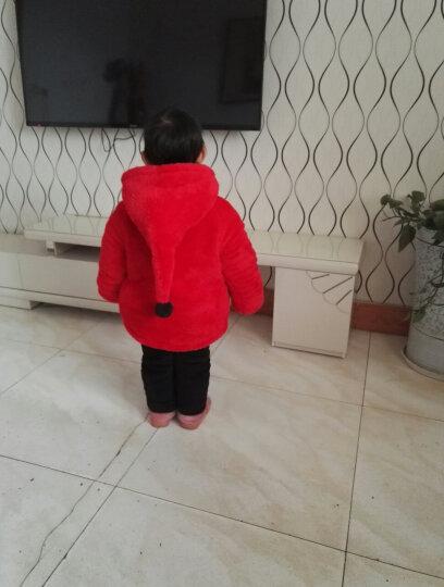 孩子城堡童装儿童牛仔外套男童外套秋装新品女童宝宝牛仔衣1-7岁中幼小童夹克衫秋季休闲上衣 花朵款玫红色 100码建议身高85-95cm 晒单图