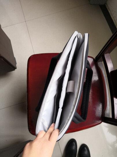 森迪威女士韩版13.3/14英寸电脑包15.6英寸 苹果戴尔惠普华硕神舟笔记本包手提单肩包 黑色 可装14英寸/13.3 电脑 晒单图