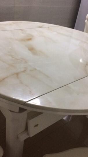思家格调 大理石餐桌椅组合套装 现代简约餐厅家具 可伸缩折叠实木餐桌 圆形餐桌 餐桌+8把椅子 晒单图