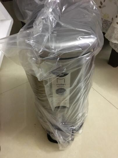 麦桶桶(Mr.Bin) 长方形垃圾桶家用卫生间窄创意静音时尚不锈钢脚踏欧式厨房客厅 cs plus5L 象牙白 晒单图