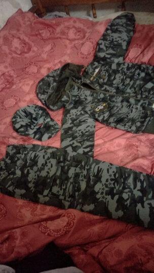 军童王子儿童套装童装冬季小孩迷彩服运动8528棉服裤加厚加绒两件套保暖男童中大童户外外套潮 丛林 160码建议身高155cm 晒单图