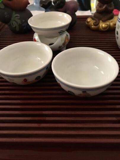 品言 高白泥仿古明成化斗彩鸡缸杯瓷器茶杯茶碗 茶具茶杯功夫 鸡缸杯茶漏ST 晒单图