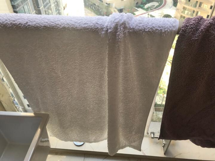 三利 纯棉加厚毛圈吸水地巾 浴室防滑脚垫 50×72cm 浅棕 晒单图