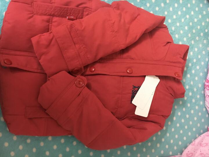 羽克(Yuke) 羽克儿童羽绒棉服冬款男女童中大童棉衣棉服童装冬装外套 红色加厚 130(建议身高120cm左右) 晒单图