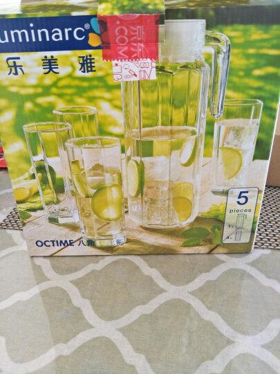 乐美雅(Luminarc)法国弓箭玻璃杯凉水壶果汁杯水杯八角水1.1L水具五件套 G6262 晒单图