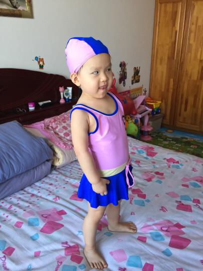 奇海(QIHAI)儿童泳衣女童泳装显瘦游泳衣温泉女孩连体裙式7630-2粉色L码 晒单图