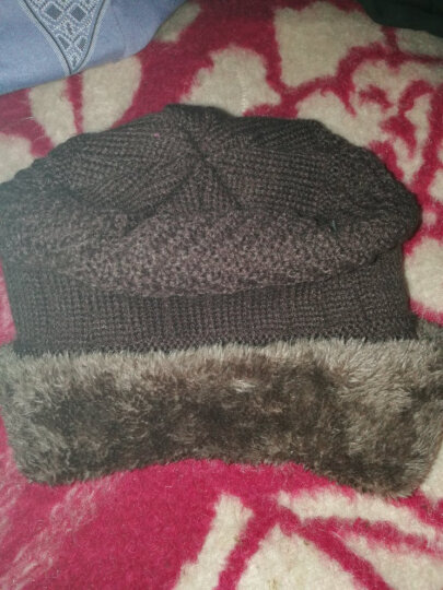 冬季男士帽子韩国版潮毛线帽加厚针织帽秋冬天套头帽包头帽 深咖啡 晒单图