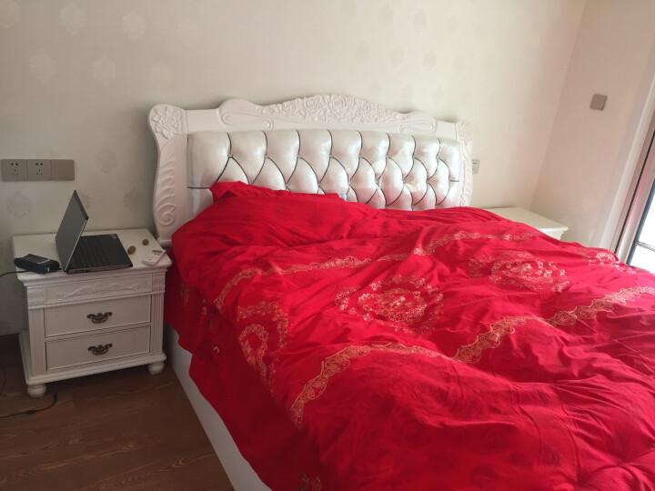 林中漫步床 全实木床 1.8米双人床小美式床 白蜡木床 1.5米储物高箱原木床 气压高箱床+10cm环保棕垫 1.5*1.9(金釉色) 晒单图