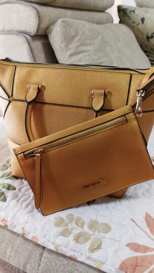 姬龙雪Guy Laroche牛皮女包可变形包包买一得二单肩手提包配钱包GS1825032 金色 晒单图