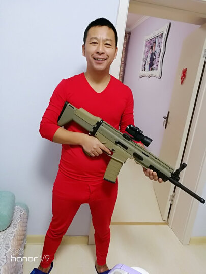 2代下供弹玩具枪scar电动连发水蛋玩具枪j8真人CS绝地求生吃鸡水晶弹玩具枪可发射水蛋冲锋枪 迷彩胶带 晒单图