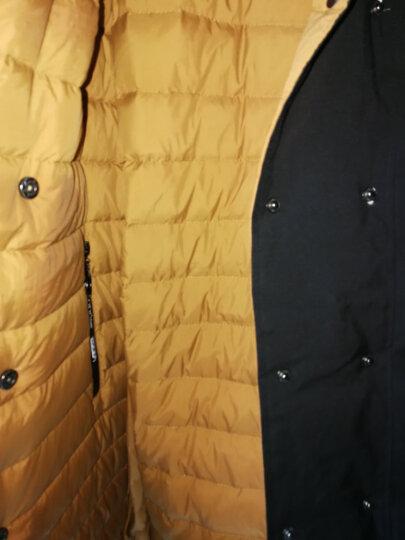 知语者2018秋冬新款日韩双排扣腰带款白鸭绒羽绒服女中长款风衣正反两面穿外套 921 浅灰色+黑色 XL (140~160) 晒单图