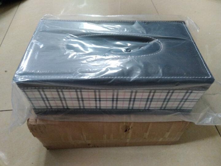 家用纸巾盒抽纸盒 餐巾纸抽盒创意欧式 家用车用客厅茶几桌面 枣红色鳄鱼纹小号 晒单图