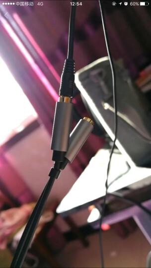 绿联(UGREEN)耳机麦克风一分二转接线 3.5音频线手机耳机二合一转换器 笔记本电脑耳麦分线器 黑色 30619 晒单图
