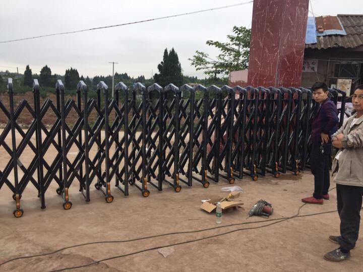 奥登格勒电动伸缩门小区工厂学校企业铝合金电动大门自动伸缩门 卫士三代/米 晒单图