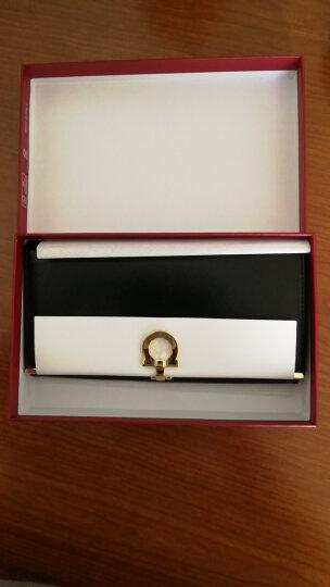 Salvatore Ferragamo 菲拉格慕 女士深蓝色牛皮十字纹长款钱包钱夹 224633 0656800 晒单图