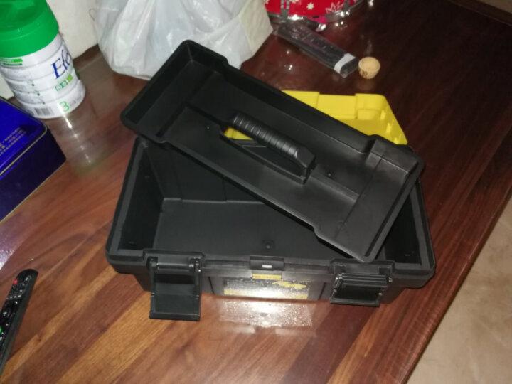 易耐特大号小号塑料多功能手提箱家用五金工具箱车载工具箱套装家用工具箱塑料工具箱零件收纳箱手提维修箱子 黄,长40*宽20*高19cm,A109 晒单图