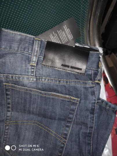 海囤全球 Armani Exchange/阿玛尼牛仔裤男 休闲经典直筒牛仔裤 奢侈品男装 水洗蓝1423 31 晒单图