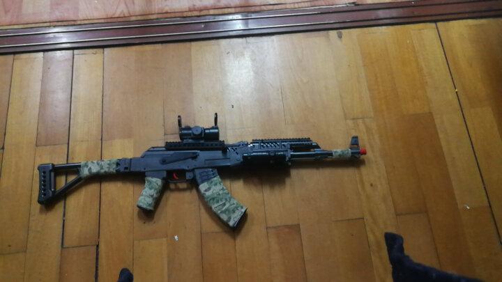 儿童下供弹水蛋玩具枪战术AK47 电动连发雷神绝地求生吃鸡玩具枪可发射水蛋玩具枪冲锋枪 迷彩胶带 晒单图