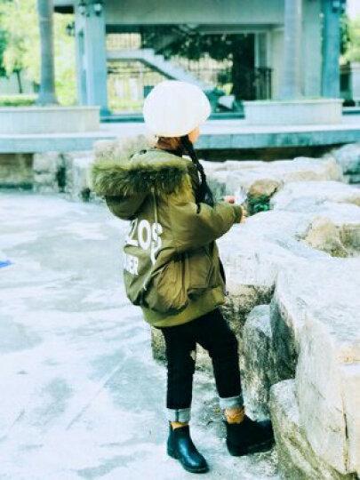 玛古芭(MAGUBA) 品牌童装女童羽绒服中长款新款韩国冬装加厚女大童公主儿童装冬装外套 黑色 110cm 晒单图
