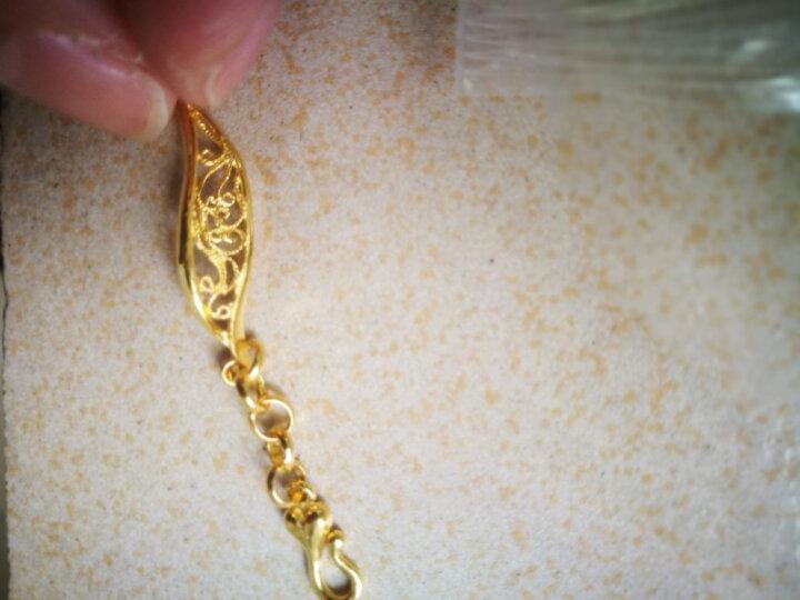 明牌珠宝 足金黄金繁花盛开婚嫁手链送礼女AFK0010工费200 T 16厘米 约11.94克 晒单图