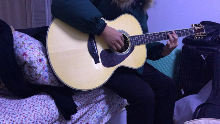 YAMAHA 雅马哈吉他LL16 全单电箱吉他LS16 LL16D LJ16 雅马哈加震吉他llta LL16L/ARE 左手款 晒单图